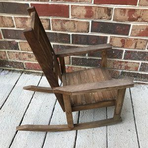 Other - Vtg Child Rocking Chair - Stickley Mission Style